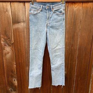H&M Jeans - H&M Vintage Slim Raw Hem Light Wash Jeans